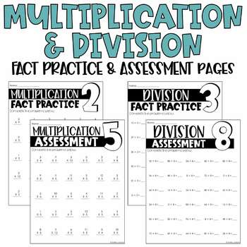 Bundle of Math Fact Practice & Assessment Pages