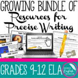 Growing Bundle of Resources for Teaching Precise Writing Nouns Verbs Task Cards