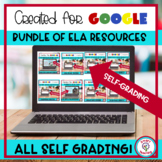 Middle School Bundle of English Language Arts Self Grading