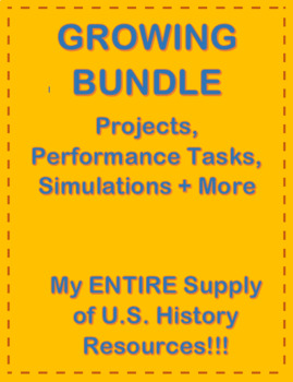 Growing Bundle of my ENTIRE Supply of U.S. History Resources