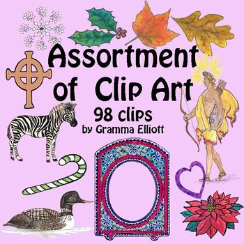 Realistic and Unusual Bargain Assortment Clip Art