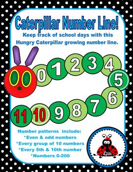 Growing Caterpillar Number Line!