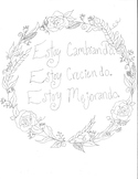 Growing, Changing, Getting Better Spanish Coloring Sheet
