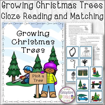 Growing Christmas Trees Cloze Reading and Matching