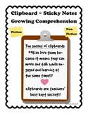Growing Comprehension with Clipboards & Sticky Notes!