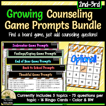 Growing Counseling Prompts For Games Bundle 2nd-3rd