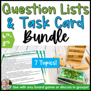 Growing Counseling Prompts For Games Bundle 6th-8th