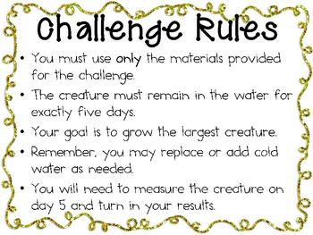 Growing Creatures ~ Monthly School-wide Science Challenge