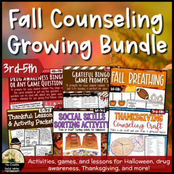Growing Fall Counseling Bundle 3rd-5th