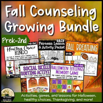 Growing Fall Counseling Bundle Prek-2nd