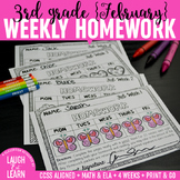 Third Grade Math & ELA Homework: February