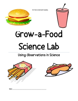 Growing Food Science Lab (with growing food novelty toy)