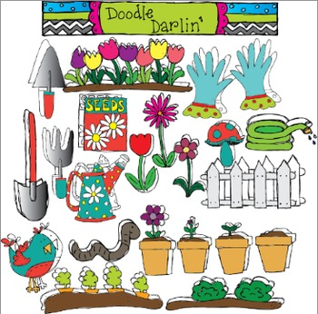 Growing Garden COMBO Clipart
