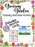 Growing Garden Direction Following Game