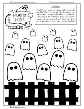Growing Ghosts- Articulation Activity