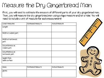 Growing Gingerbread Man Science Process Skills Labs