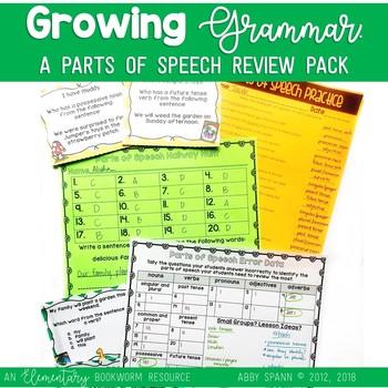 Growing Great Grammar! {Parts of Speech Review Activities