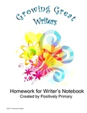 Growing Great Writers: Homework for Writer's Notebook