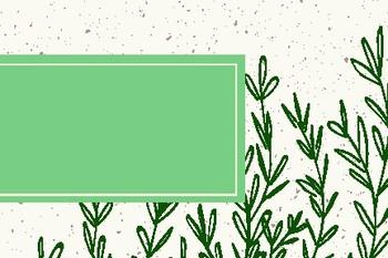 Growing Greens Blank Editable Labels Flashcards