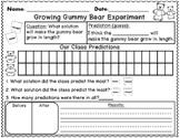 Growing Gummy Bear Science Experiment {FREEBIE}