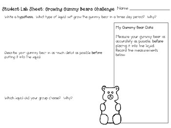 Growing Gummy Bears ~ Monthly School-wide Science Challenge ~ STEM