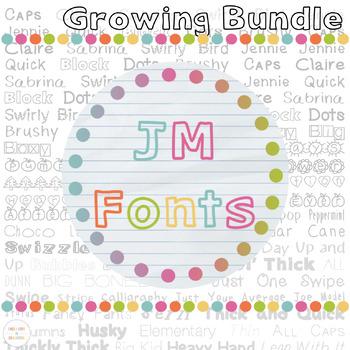 Growing JM Font Bundle