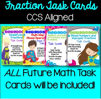 MEGA Task Card Bundle: TON of Word Problems for Grades 3-5
