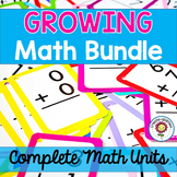 Growing Math Bundle- 50+ Complete Math Units and Centers