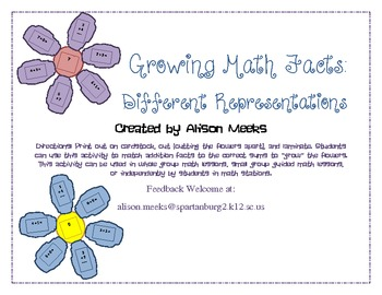 Growing Math Facts: Different Representations
