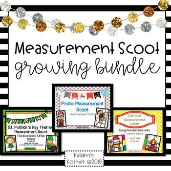 Measurement Scoot Growing Bundle -Nonstandard Units of Measurement