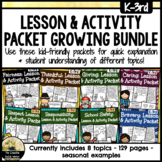 Character Lesson & Activity Packet Growing Bundle