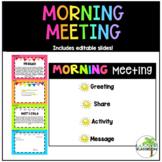 Growing Morning Meeting- Editable!