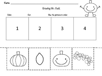 Growing Mr. Jack -Sequencing FREEBIE