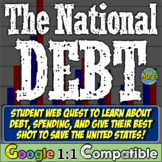 Growing National Debt: Engaging Video, Article, Simulation Web Quest for Debt!