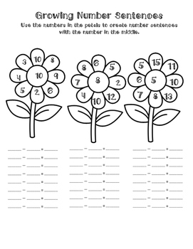 Number Fluency Pages