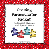 Special Education Growing Paraeducator Packet