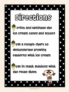 MATH:Growing Patterns- 2 Complete Mini Lessons/ Math Stations
