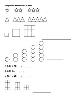 Growing Patterns Worksheet