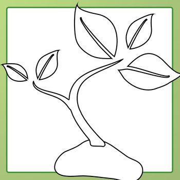Growing Plant Sequence - 0 to 6 Leaves Clip Art Set for Commercial Use
