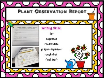 Growing Plants: A Plant Observation & Report