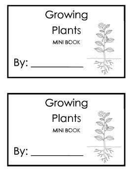 Growing Plants Mini Book