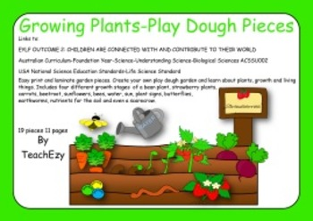 Growing Plants Play Dough Pieces