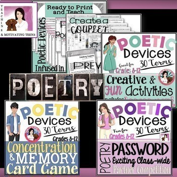 Growing Poetry Mega-Bundle - Editable for Middle and High School