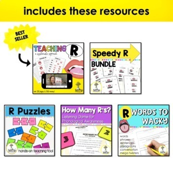 R Articulation Growing Bundle - R Speech Therapy - Vocalic R