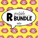 R Sound Printable Bundle - R Speech Therapy - Vocalic R