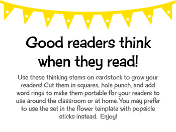 Growing Readers' Thinking Stems