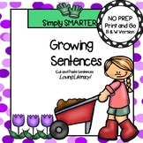 NO PREP Garden Themed Cut and Paste Building Sentences Activity