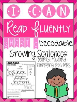 Growing Sentences: Short O Decodable Sentences- Fluency
