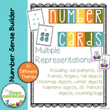 Number Cards 0 to 20: Multiple Representations Growing Set
