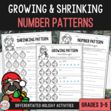 Growing & Shrinking Number Patterns - Christmas Edition